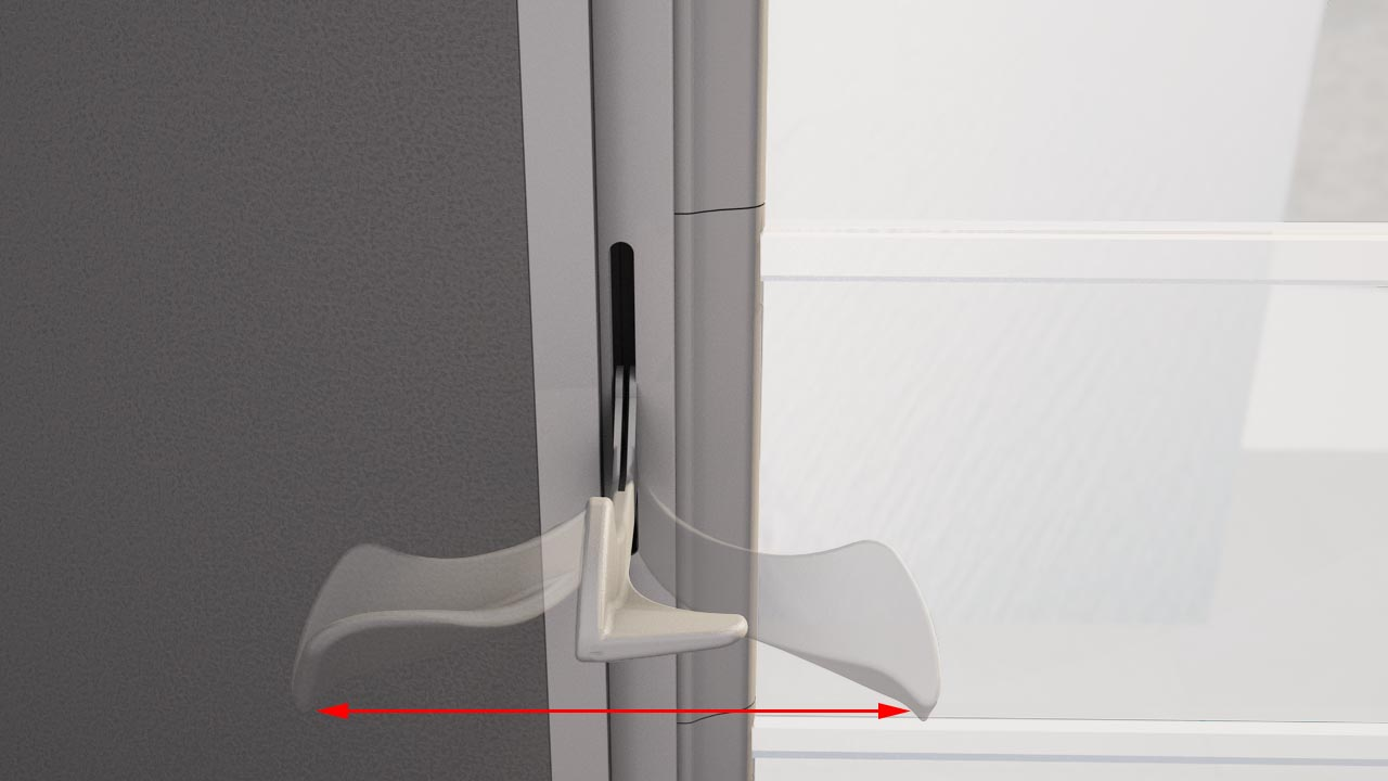 The Altair Louvre high strength, flexible handle will spring back to its original shape