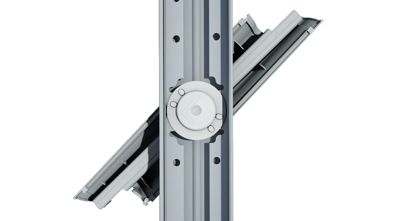 Altair Louvre high strength acetal bearings and aluminium operation bars