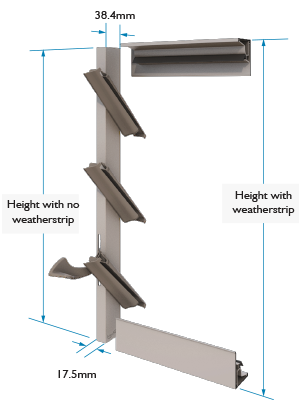 Altair Louvre Standard Height Dimensions