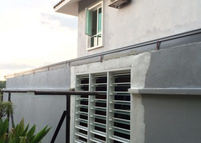 Altair Louvres on the exterior of the building