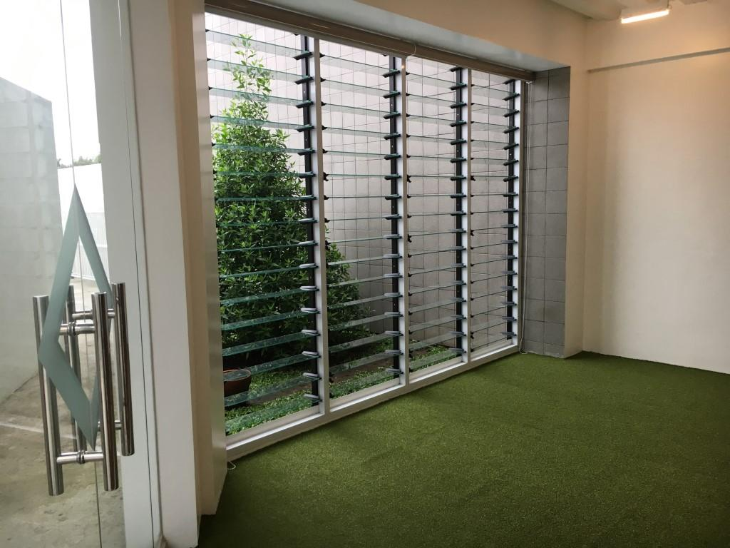 Open up rooms in office buildings using Breezway louvre windows