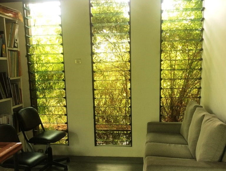 Open up waiting rooms in office environments with breezway louvre windows