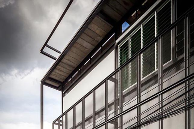 Breezway Louvres open wide for natural ventilation